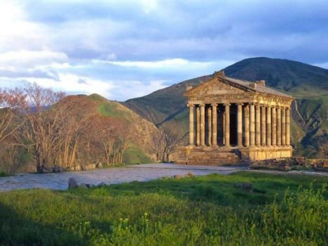 Armenian 1st Century Roman temple in Garni - photog unknown