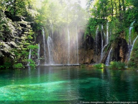 Croatia plitvice lakes waterfall