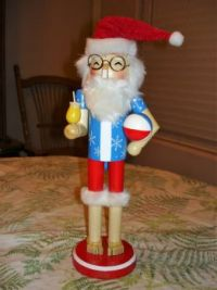 Tropical Santa Nutcracker