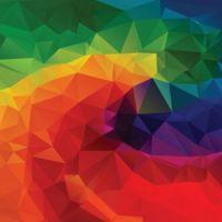 Rainbow low poly