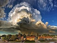 Supercell storm cloud