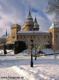 Bojnice Castle, winter, Slovakia