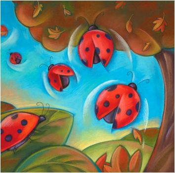 Ladybugs Fall