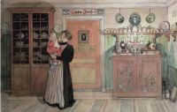 Between Christmas and New Year by Carl Larsson