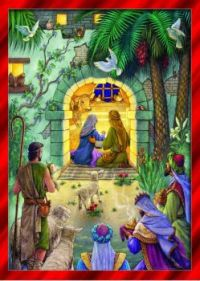 The Wise Men are coming to visit Jesus