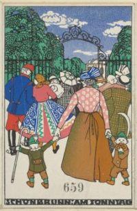 Attributed to Moriz Jung (Czech, 1885–1915), Schönbrunn on Sunday (1912)