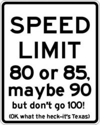 Texas Speed Limit Signs