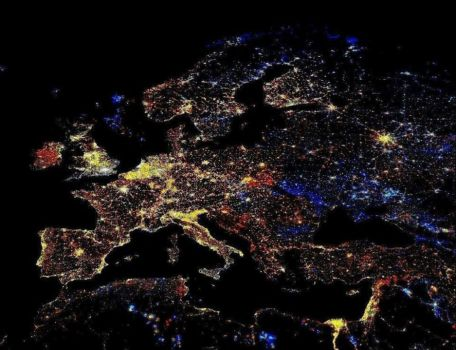 Satellite photo of Europe