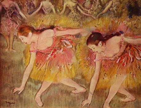 Dancers Bending Down 1885 Edgar Degas