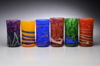 Colored Blown Glass Tumblers