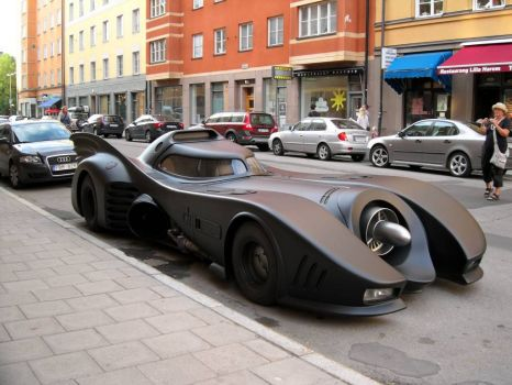 Batmobile in Stockholm, smaller