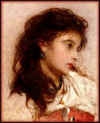 George E Hicks - A Gypsy Girl, 1899