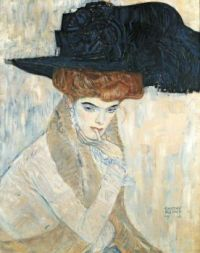 The Black Feather Hat ,1910