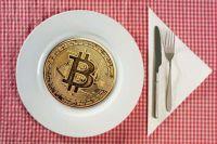 Bitcoin on a plate