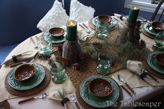 Pinecone Tablescape