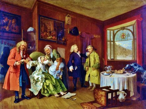 Hogarth - Marriage a-la-Mode 6/6, The Lady's Death