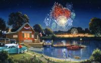 Fireworks At The River ( I LOVE the Woody in the background!)