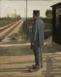 "Laurits Andersen Ring, ""The Railroad Guard"", 1884"