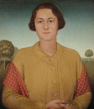 Grant Wood, Portrait of Mrs. Donald MacMurray (1933)