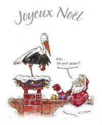 Santa to stork on the roof: May I?