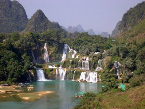 Detian Waterfall, China.