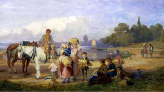 On the Tow Path, Walton on Thames, by John Absolon