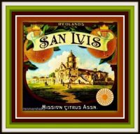 Vintage Fruit Crate Labels Depicting California Missions last batch