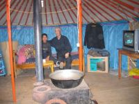 Inside a Gur (Yurt) in Mongolia in 20010
