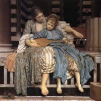 "Frederic Lord Leighton, English,  ""The Music Lesson""1877"