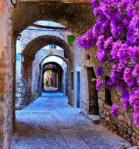 Old town of Rhodes island, Greece