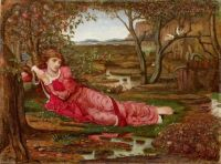 John Melhuish Strudwick 1875 Song without words