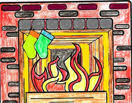 Glowing Coloring Fireplace