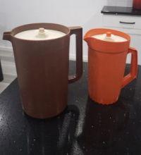 I still have them! Tupperware Gallon and 2 Quart pitchers.