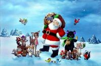 Santa Claus and forest friends