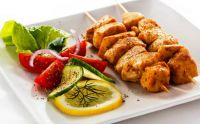 Chicken Skewers & Salad