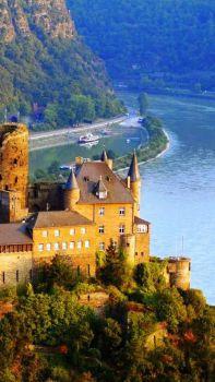 Schonburg Castle Rhine River, Germany