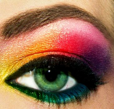 Rainbow Eyeshadow by pumpkincat210 on flickr