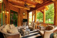 Comfortable Log Home Porch...