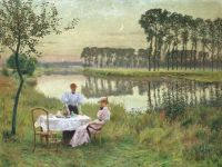 Emile Claus, Summer Evening, 1895