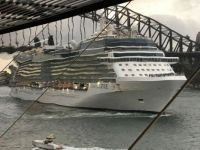 Carnival Solstice sailing out of Sydney Harbour