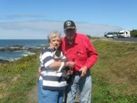 Bob and me in Yachats, Or