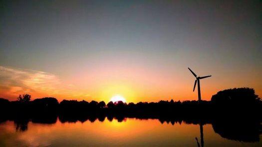 Beautiful sunset in Iowa
