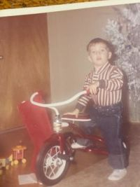 My middle son, Mark at Christmas many yearsago