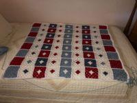 Crochet throw...working on the border