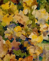 Herbstblätter auf grünem Grund, by Augusto Giacometti (1877-1947)