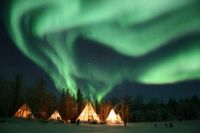 Northern Lights over Teepees #1