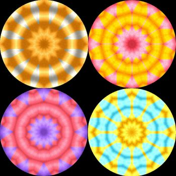 Metallic Double Kaleidoscopes - large
