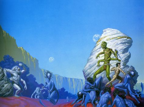 The Gods of Mars, by Michael Whelan
