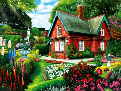 Red House with beautiful garden