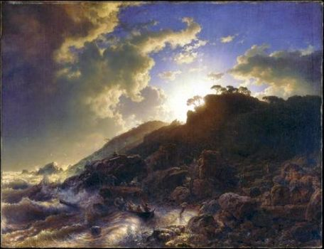 Sunset after a Storm on the Coast, 1853 by Andreas Achenbach